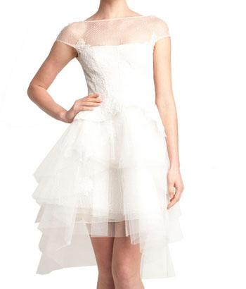 Luminita Cosleacara recomanda rochia scurta de mireasa